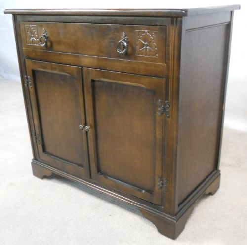 Antique Style Dark Small Sideboard - SOLD